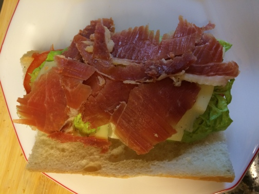 Jamon for lunch