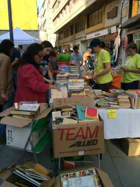 A book stall along Sant Blai in Tortosa
