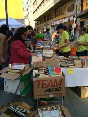 A book stall along Sant Blai in Tortosa